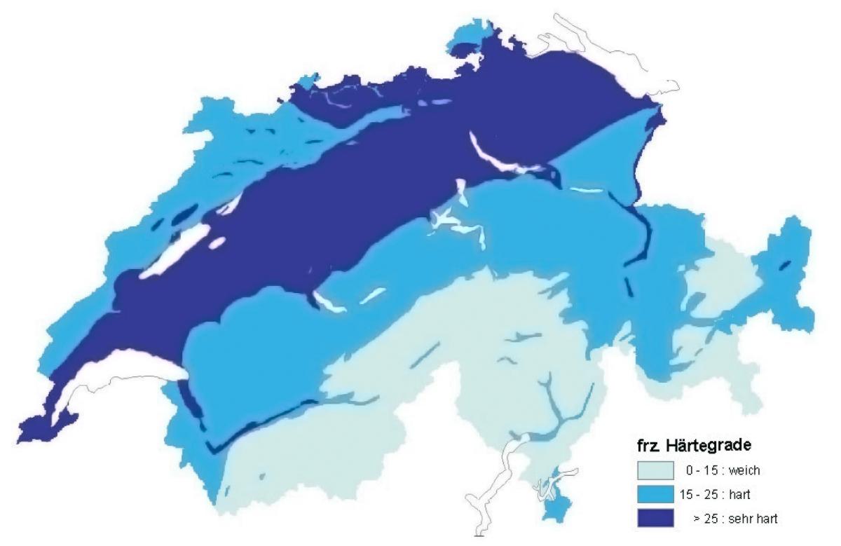 Wasserhaerte-ermitteln-Karte-Kalk-Grundwasser-Schweiz